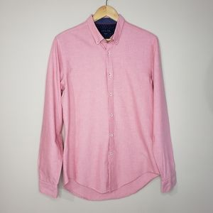 Zara Man Slim Fit Button Up Large Cotton Shirt